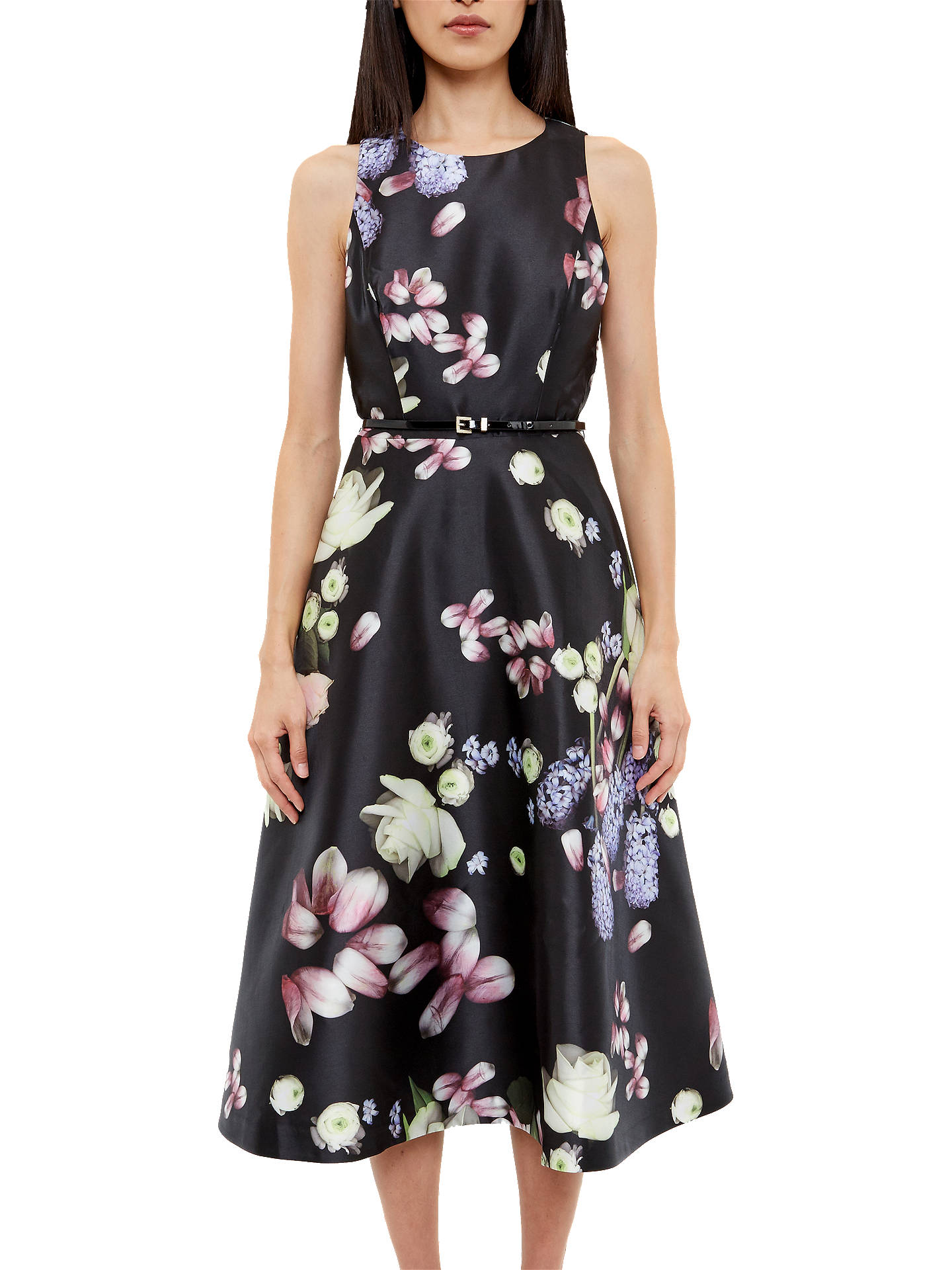 76b077f31dab7 Buy Ted Baker Rosa Kensington Floral Midi Dress, Black, 0 Online at  johnlewis.