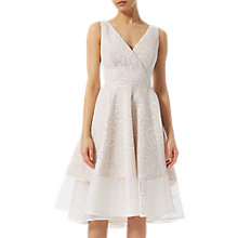 Buy Adrianna Papell Bonded Mesh High Low Dress, Ivory Online at johnlewis.com