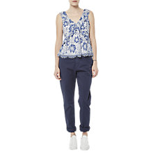 Buy French Connection Antonia Lace Top, Meru Blue Online at johnlewis.com
