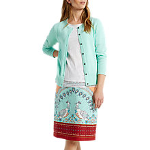 Buy White Stuff Pebble Lace Cotton Cardigan, Green Online at johnlewis.com
