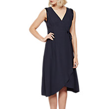 Buy Mint Velvet Wrap Asymmetric Hem Dress, Dark Blue Online at johnlewis.com