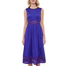 Buy Ted Baker Tharia Cut-Out Lace Cotton Dress, Mid Blue Online at johnlewis.com