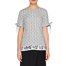 Buy Ted Baker Colour By Numbers Laylei Geo Floral Print T-Shirt, Mid Grey Online at johnlewis.com