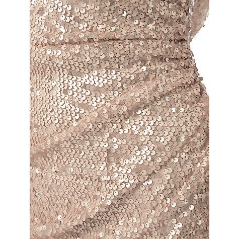 Buy Adrianna Papell Plus Size Sequin Pailette Maxi Dress, Nude Online at johnlewis.com
