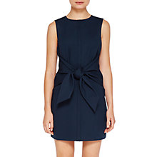 Buy Ted Baker Papron Colour By Numbers Waist Tie Dress, Navy Online at johnlewis.com