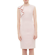 Buy Ted Baker Suriad Frill Shoulder Pencil Dress, Pale Pink Online at johnlewis.com