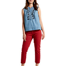 Buy White Stuff Sally Straight Crop Jeans Online at johnlewis.com