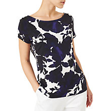 Buy Precis Petite Shadow Floral Top, Navy/Multi Online at johnlewis.com