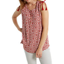 Buy White Stuff Fayoumi Jersey Vest, Rosewood Red Online at johnlewis.com
