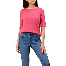 Buy Hobbs Striped Cotton-Linen Rose Top Online at johnlewis.com
