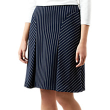 Buy Hobbs Paige Skirt, Navy/Ivory Online at johnlewis.com