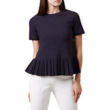 Buy Hobbs Kasey Knit Top, Navy Online at johnlewis.com
