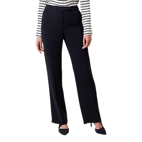 Buy Hobbs Catherine Trousers, Navy Online at johnlewis.com