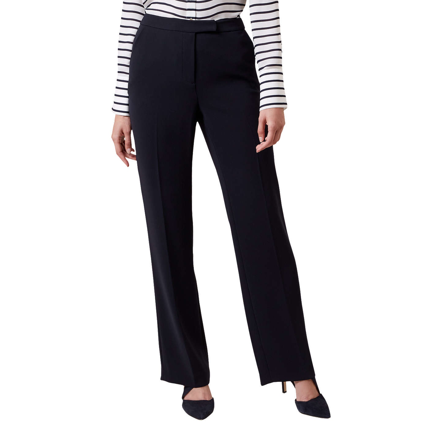 BuyHobbs Catherine Trousers, Navy, 6 Online at johnlewis.com