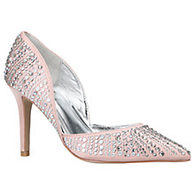 Buy Carvela Grady Pointed Toe Embellished Court Shoes, Nude Online at johnlewis.com