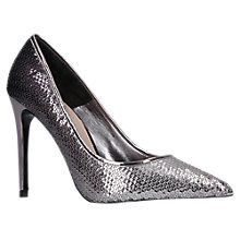 Buy Carvela Apricot Stiletto Heeled Court Shoes, Silver Online at johnlewis.com