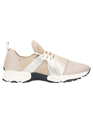 Carvela Lamar Lace Up Trainers, Beige Mix