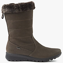 Buy John Lewis Phedora Water Resistant Calf Boots, Brown Nubuck Online at johnlewis.com