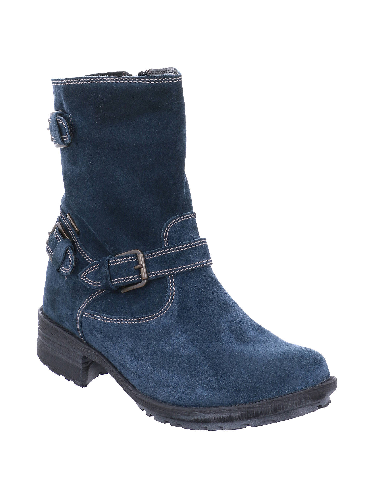 BuyJosef Seibel Sandra 30 Block Heeled Ankle Boots, Blue, 3 Online at johnlewis.com