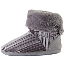 Buy Pretty You London Vida Turn Down Boot Slippers, Grey Online at johnlewis.com