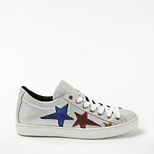 Buy AND/OR Esfir Star Lace Up Trainers, Silver Online at johnlewis.com