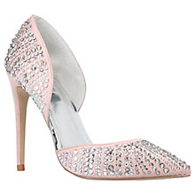 Buy Carvela Grade Pointed Toe Embellished Court Shoes, Nude Online at johnlewis.com
