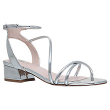 Buy Carvela Governor Strappy Block Heeled Sandals, Silver Online at johnlewis.com