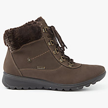 Buy John Lewis Polly Water Resistant Ankle Boots, Brown Nubuck Online at johnlewis.com