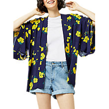 Buy Warehouse Floral Print Kimono Online at johnlewis.com