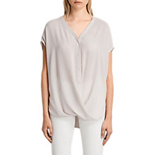 Buy AllSaints Twist Top, Champagne Pink Online at johnlewis.com