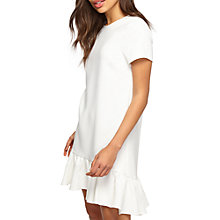 Buy Miss Selfridge Peplum Hem T-Shirt Dress, Ivory Online at johnlewis.com