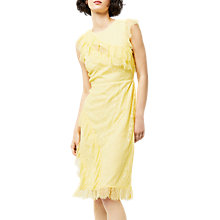 Buy Warehouse Eyelash Frill Dress, Lemon Online at johnlewis.com