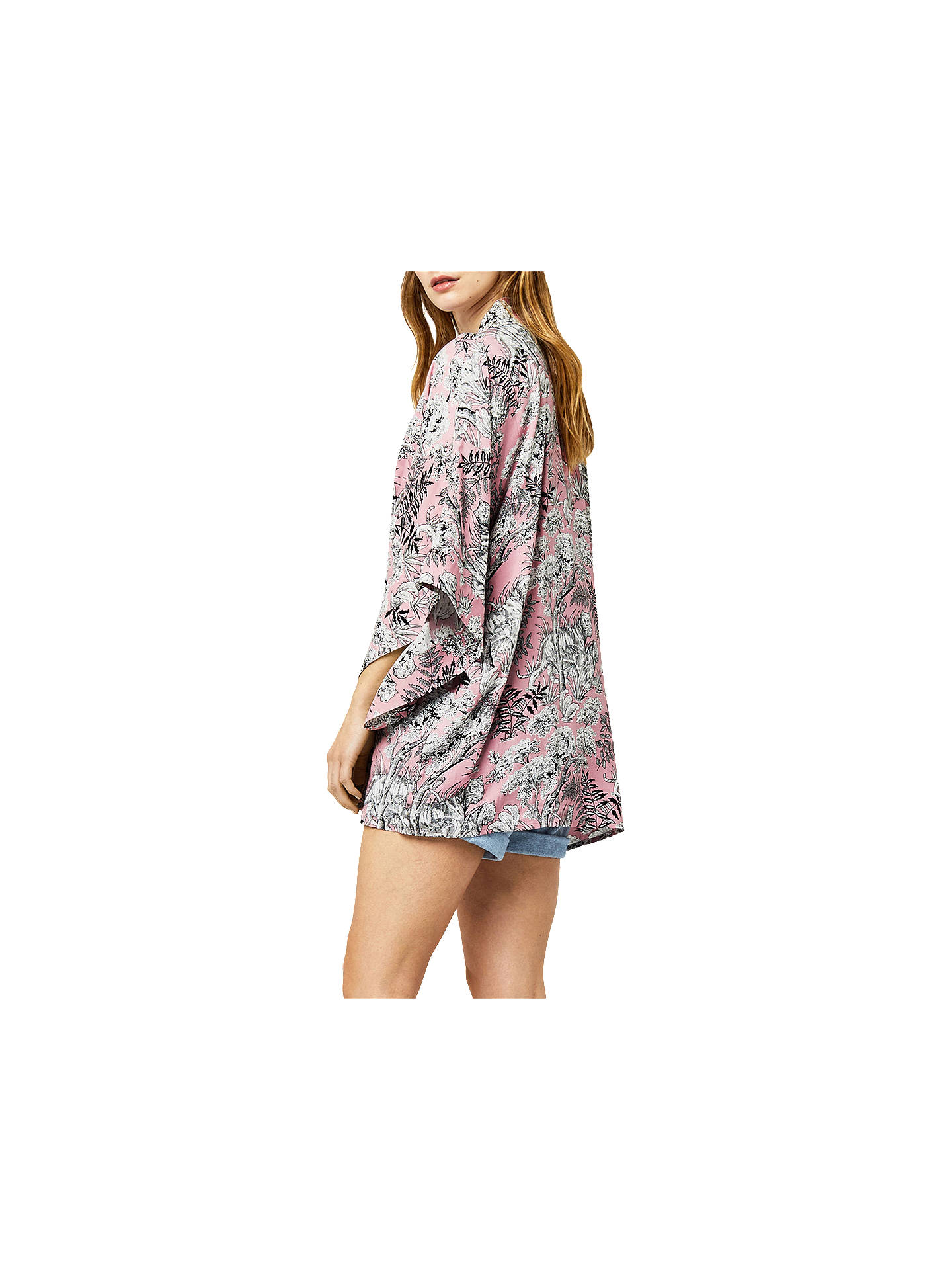 7a4bfb775 ... Buy Warehouse Tiger Printed Kimono, Light Pink, S-M Online at  johnlewis.com ...