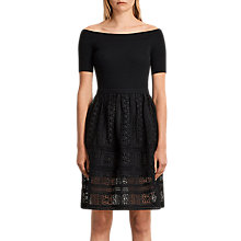 Buy AllSaints Rowan Skirt, Black Online at johnlewis.com