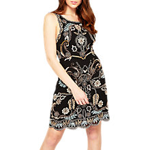 Buy Miss Selfridge Alexa Cut Work Dress, Black Online at johnlewis.com
