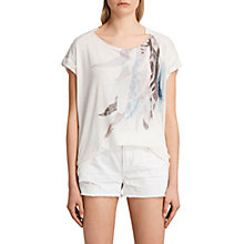 Buy AllSaints Flight Pina T-Shirt, Chalk White Online at johnlewis.com