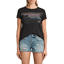 Buy AllSaints Gloam Maicy T-shirt, Fadeout Black Online at johnlewis.com
