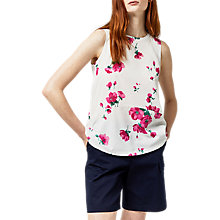 Buy Warehouse Delia Floral Woven Top, Multi Online at johnlewis.com