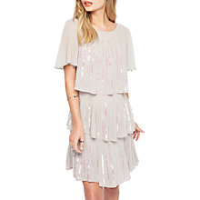 Buy Miss Selfridge Tierred Sequin Angel Dress, Grey Online at johnlewis.com