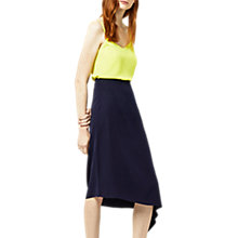 Buy Warehouse Asymmetric Skirt, Navy Online at johnlewis.com
