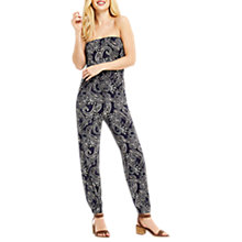 Buy Oasis Paisley Print Jumpsuit, Black Multi Online at johnlewis.com