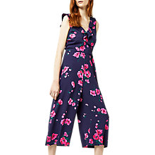 Buy Warehouse Delia Floral Jumpsuit, Multi Online at johnlewis.com