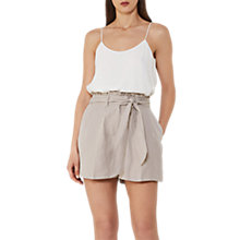 Buy Reiss Tamson Linen Shorts, Tiramisu Online at johnlewis.com