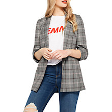 Buy Miss Selfridge Check Ruched Sleeve Blazer, Multi Online at johnlewis.com
