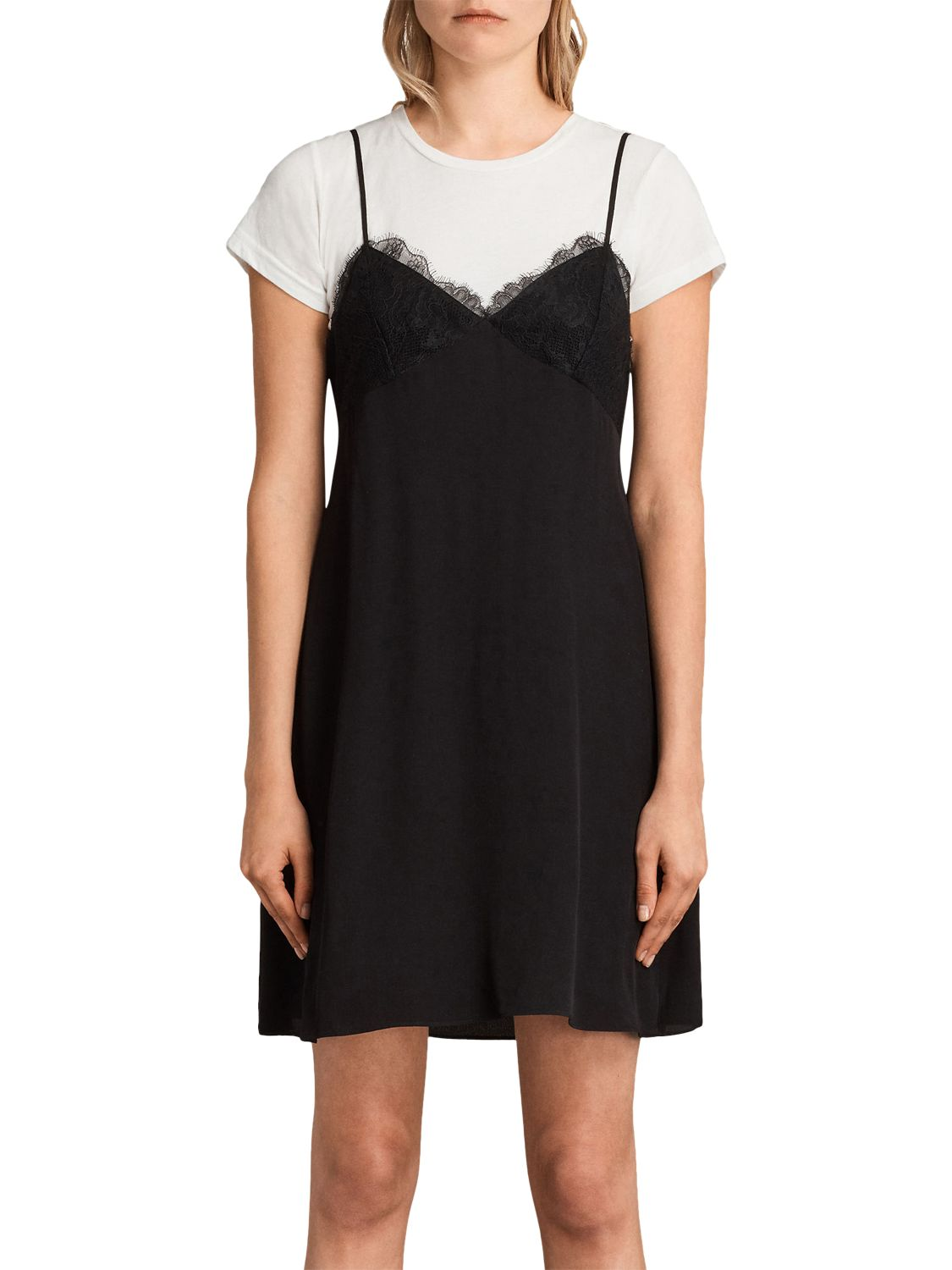 b0633b51e884 AllSaints Ives Dress, Black at John Lewis & Partners
