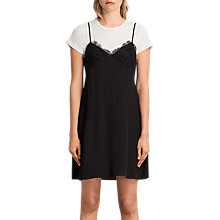 Buy AllSaints Ives Dress, Black Online at johnlewis.com