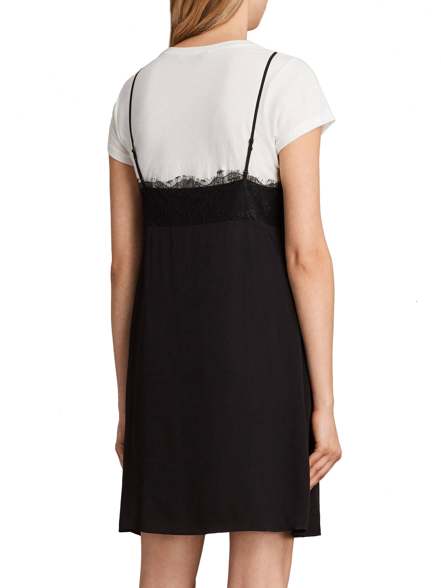 e54963051dc6 ... Buy AllSaints Ives Dress, Black, XS Online at johnlewis.com ...