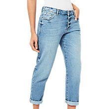 Buy Miss Selfridge Seam Slim Fit Boyfriend Jeans, Mid Wash Online at johnlewis.com