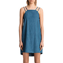 Buy AllSaints Hally Dress, Mid Indigo Blue Online at johnlewis.com