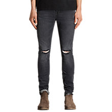 Buy AllSaints Bannock Cigarette Jeans, Black Online at johnlewis.com